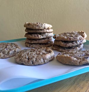 Dried fruit is ground up with oats in this not-too-sweet after-school cookie.
