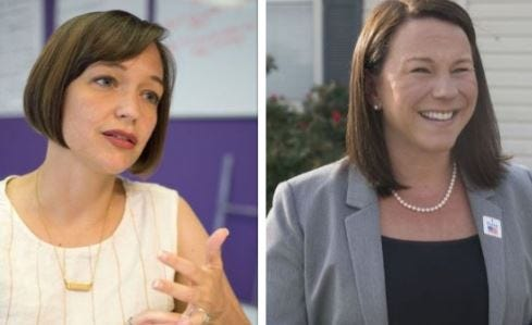 Tabitha Isner (left) and Rep. Martha Roby (right) will vie for Alabama's second congressional seat in the November midterm election.