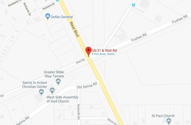 A rail road crossing at U.S. 31 and Well Road will be closed Friday for repairs.