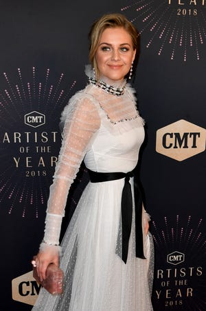 Kelsea Ballerini on the red carpet before the CMT Artists of the Year ceremony at the Schermerhorn Symphony Center in Nashville, Tenn., Wednesday, Oct. 17, 2018.