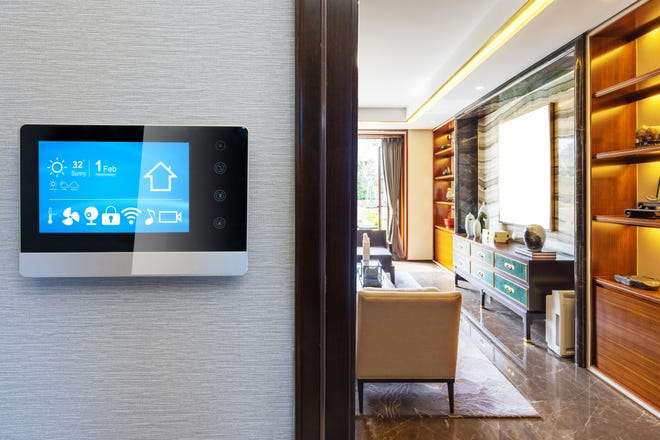 Besides smart thermostats, the products available now include room air conditioners, refrigerators and freezers, laundry equipment, light bulbs and fixtures and power strips.