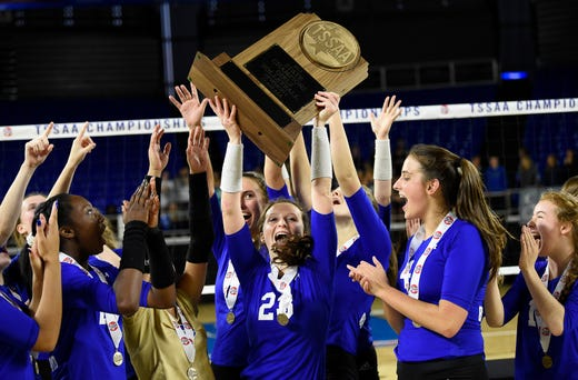 Brentwood volleyball beats Siegel for sixth consecutive state championship