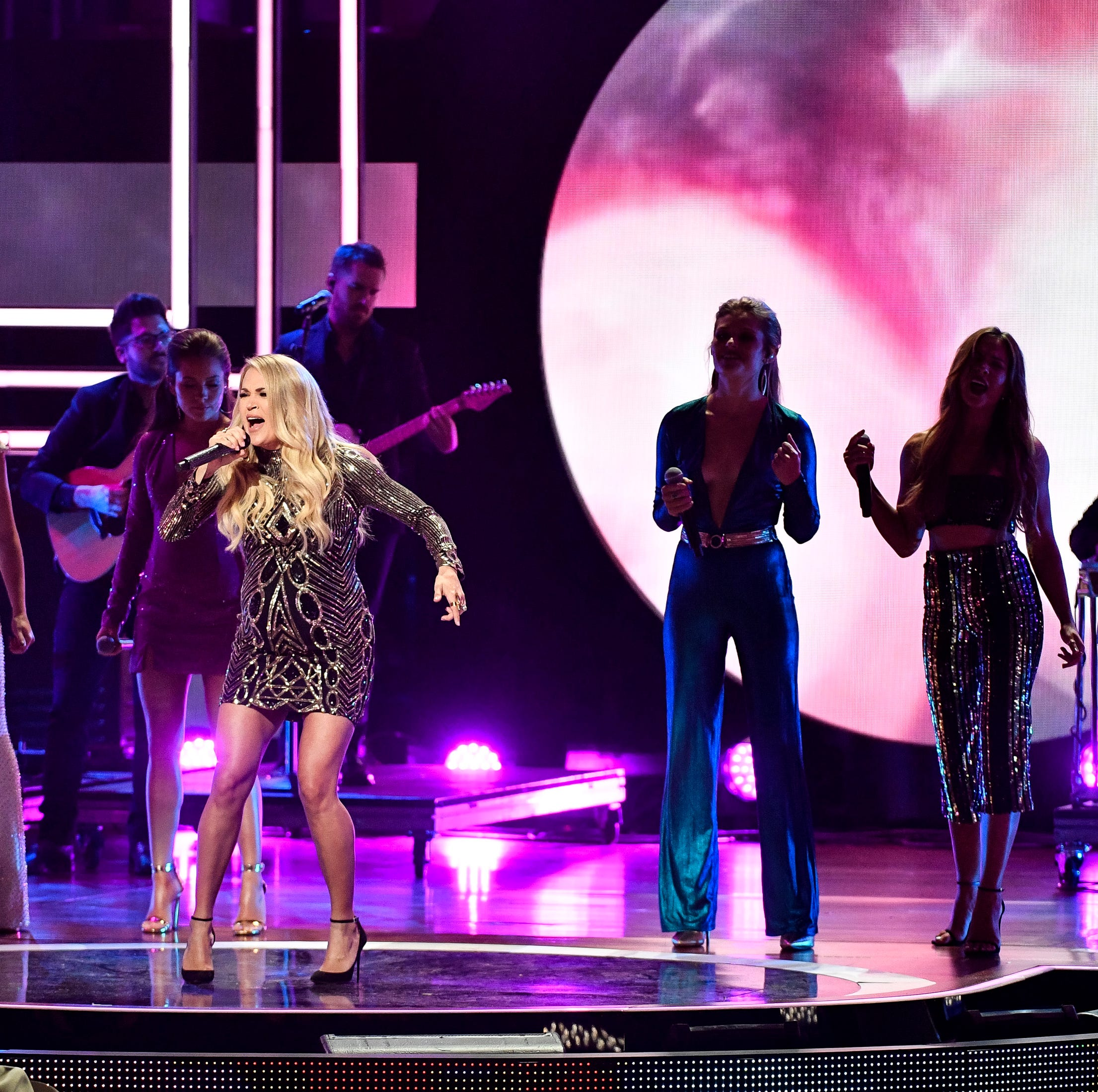 Carrie Underwood performs during the CMT Artists...