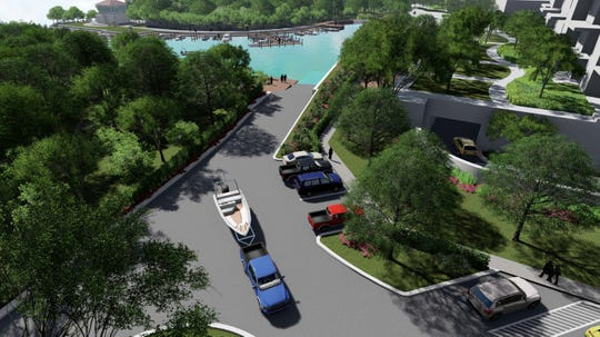 A public boat ramp included with London Bay Homes' plans for the former Weeks Fish Camp site has 10 parking spots for boat trailers and 15 for cars.