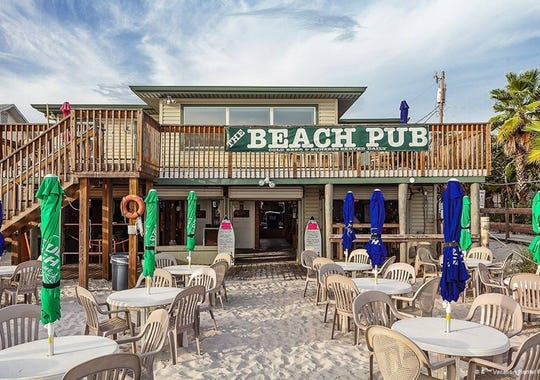 An apartment above The Beach Pub on Fort Myers Beach is available to rent through Airbnb.