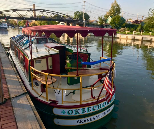 The 42-foot Okeechobee, an Erie Canal boat in upstate New York.