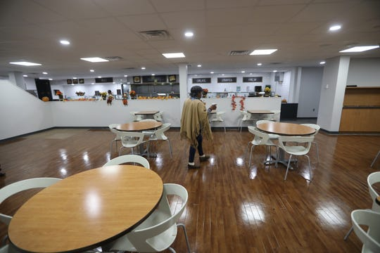 An expanded cafeteria that is shared by all tenants is one of the amenities at the remodeled Continental Plaza in Hackensack.