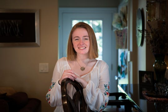 Katherine (Katie) Gazzini, 16, at her home in Ridgewood on Thursday, October 18, 2018.