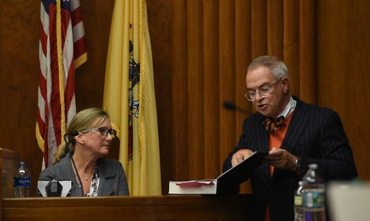 Jared Clackner, of Denville, is on trial in Bergen County Superior Court for killing his friend William Henning after a ZZ Top concert in 2015. Clackner is charged with aggravated manslaughter in the death of Henning. Forensic pathologist and former Asst. Bergen County Medical Examiner Dr. Jennifer Swartz who performed the autopsy on William Henning in March 2015, testifies in court on Wednesday, October 17, 2018. Clackner's attorney Brian Neary cross examines Swartz.