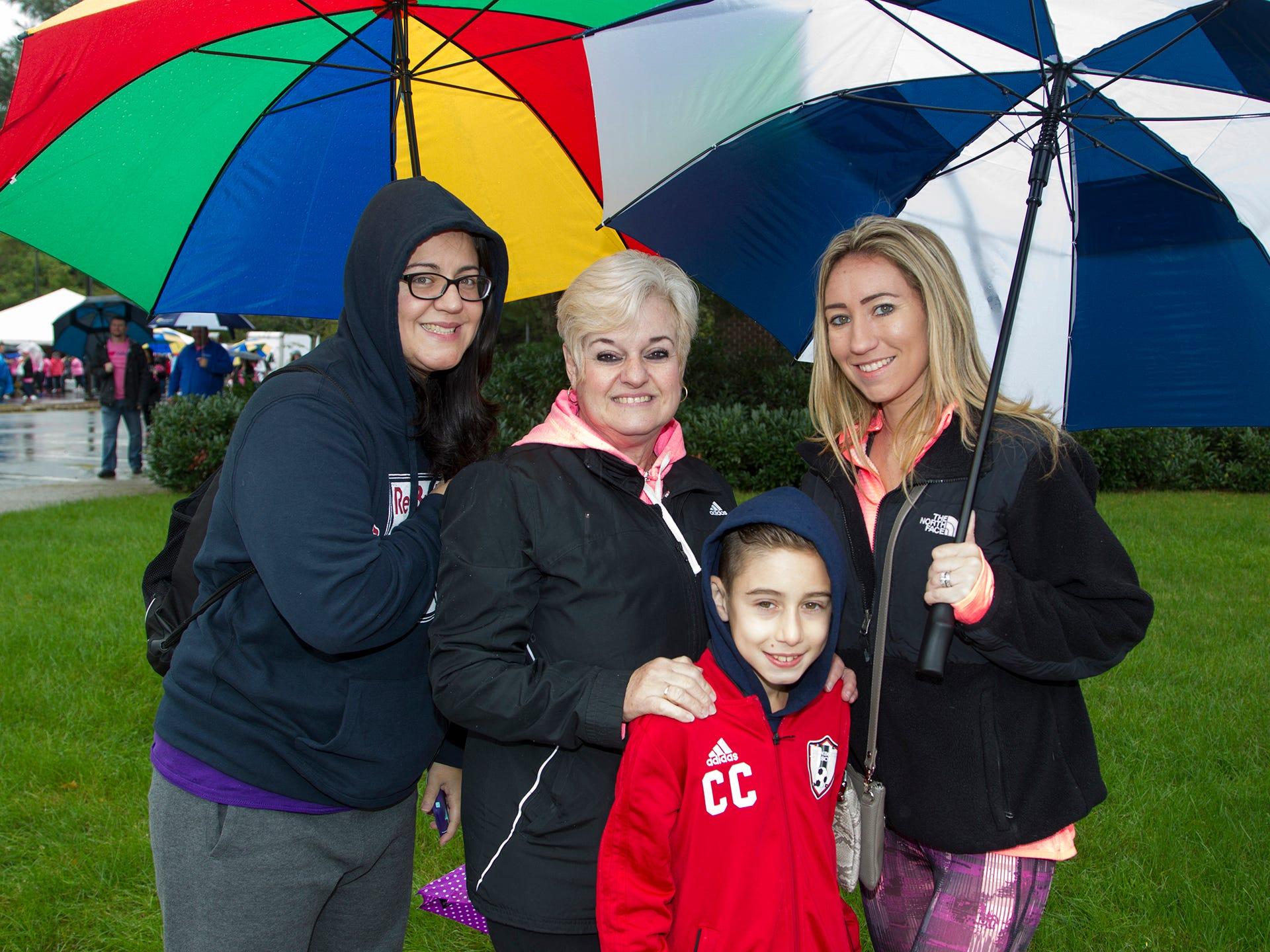 Melissa Cruz, Mercedes Cruz, Cristian Cruz, Tara Cruz. Valley National Bank held its 10th annual Breast Cancer Walk in Wayne. 10/13/2018