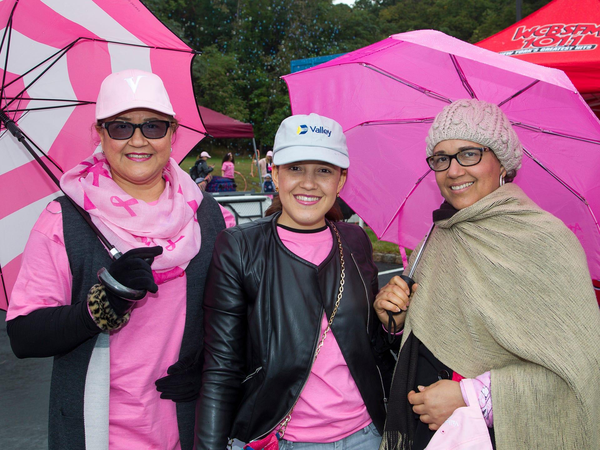 Ibelgy Madera, Peralta Madera, Patricia Madera. Valley National Bank held its 10th annual Breast Cancer Walk in Wayne. 10/13/2018