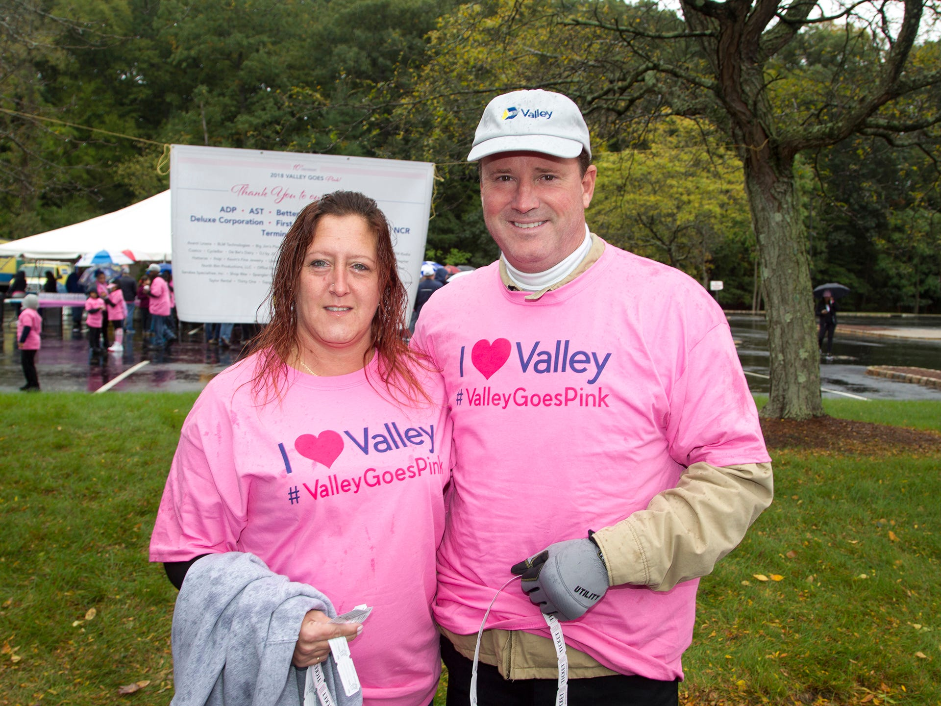 LJenn Ciccarelle and Bryce Buck. Valley National Bank held its 10th annual Breast Cancer Walk in Wayne. 10/13/2018