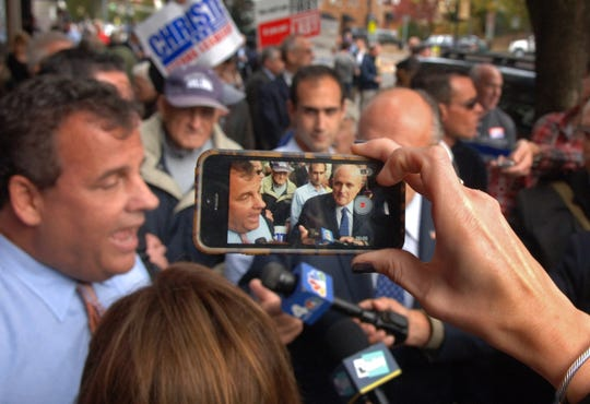 Gov. Chris Christie on the campaign trail in 2013.