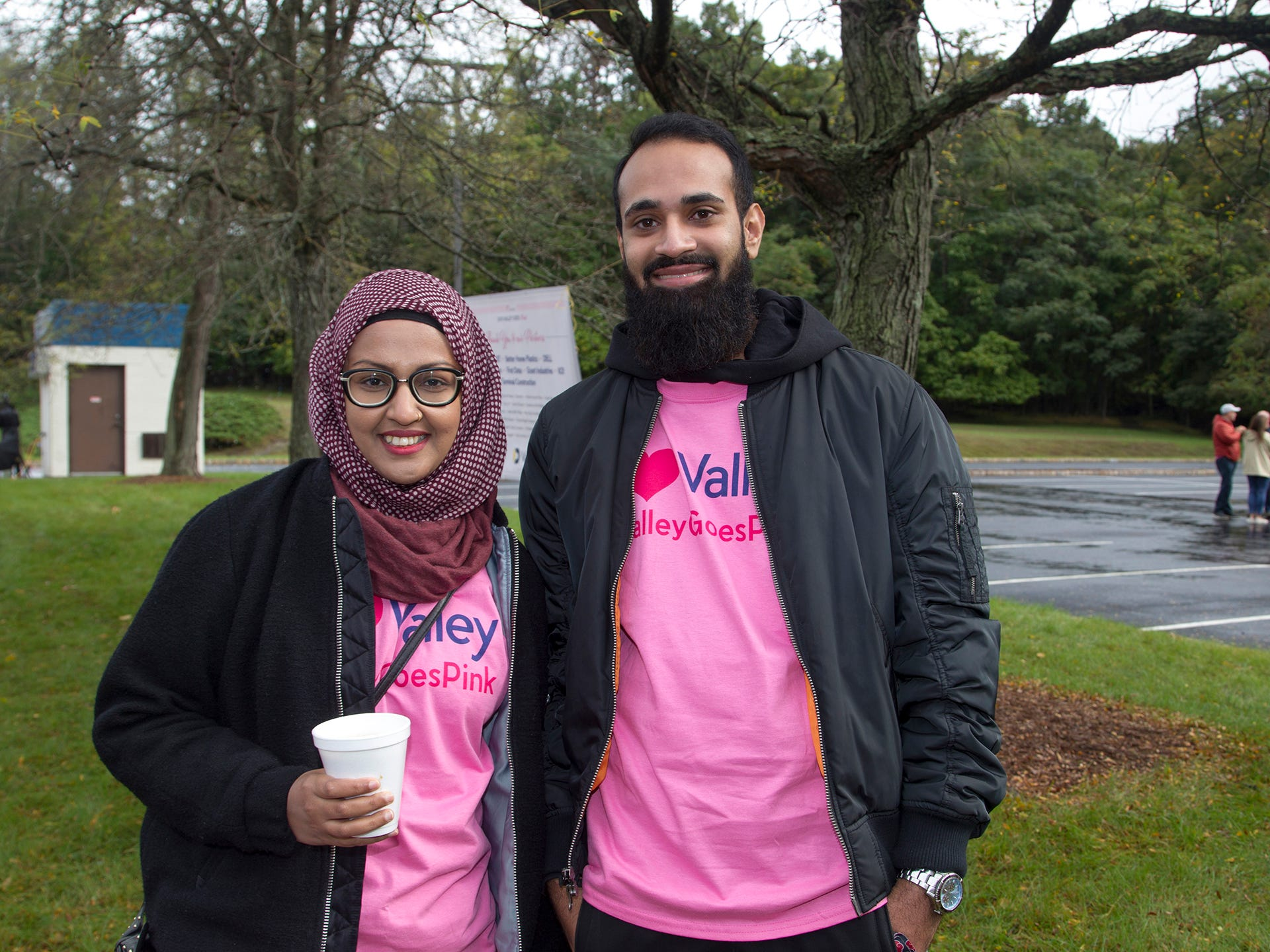 Alissa, Jess. Valley National Bank held its 10th annual Breast Cancer Walk in Wayne. 10/13/2018