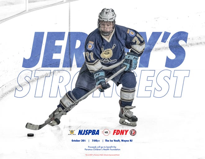 The New Jersey State PBA hockey team will host the FDNY in a fundraiser game at Ice Vault in Wayne on Saturday, Oct. 20.