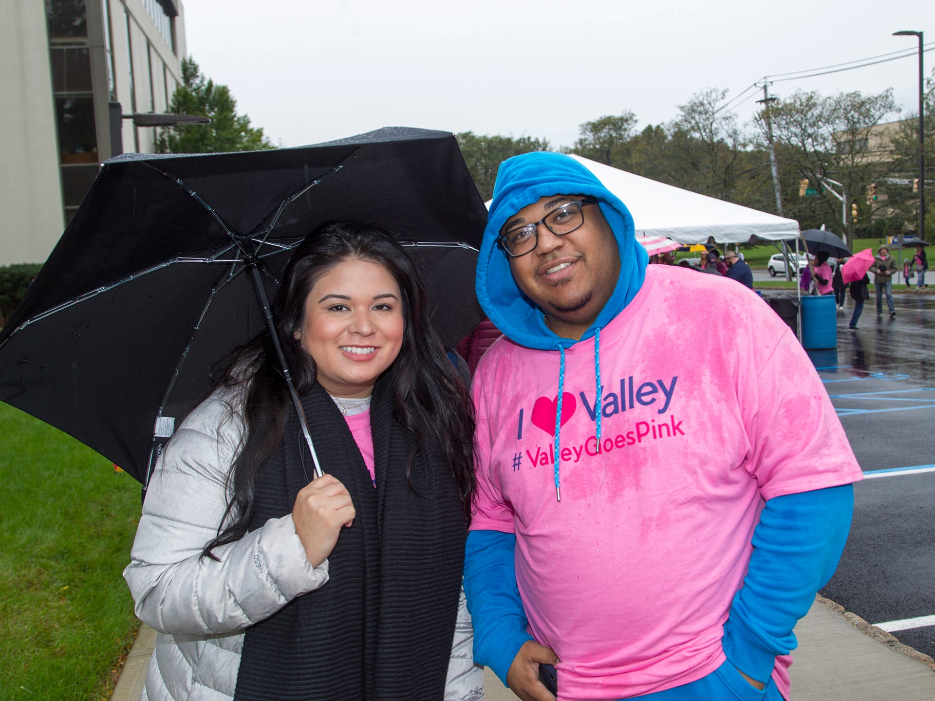 Nicole Caned, Matthew Artis. Valley National Bank held its 10th annual Breast Cancer Walk in Wayne. 10/13/2018