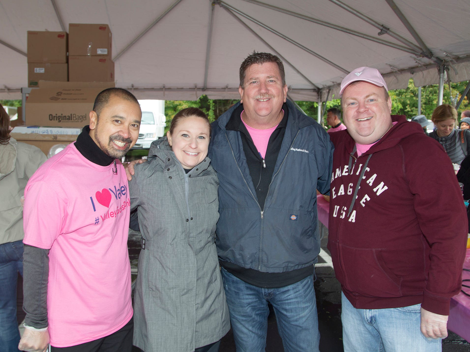 Patricek, Melissa, Bill, Ralph. Valley National Bank held its 10th annual Breast Cancer Walk in Wayne. 10/13/2018