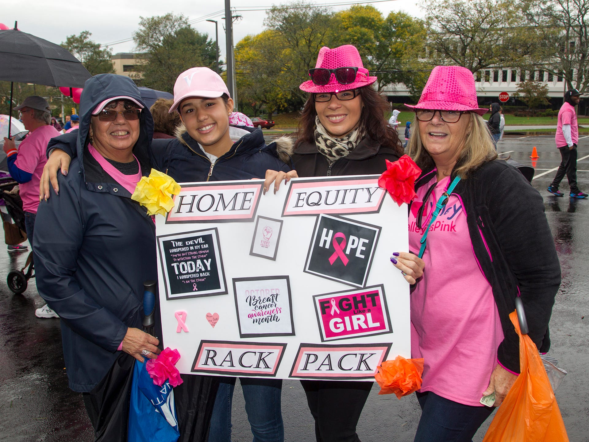 Alba Mitchell, Diana Prieto, Amarlis Prieto, Karen Leetch. Valley National Bank held its 10th annual Breast Cancer Walk in Wayne. 10/13/2018