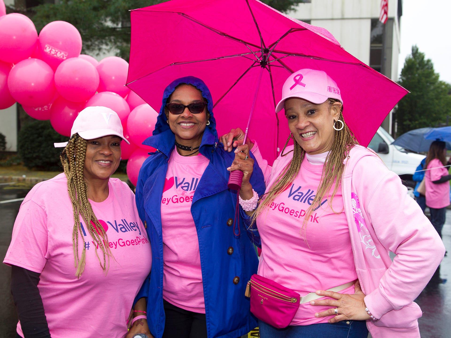 Rosa, Clara, Fantamia Perez. Valley National Bank held its 10th annual Breast Cancer Walk in Wayne. 10/13/2018