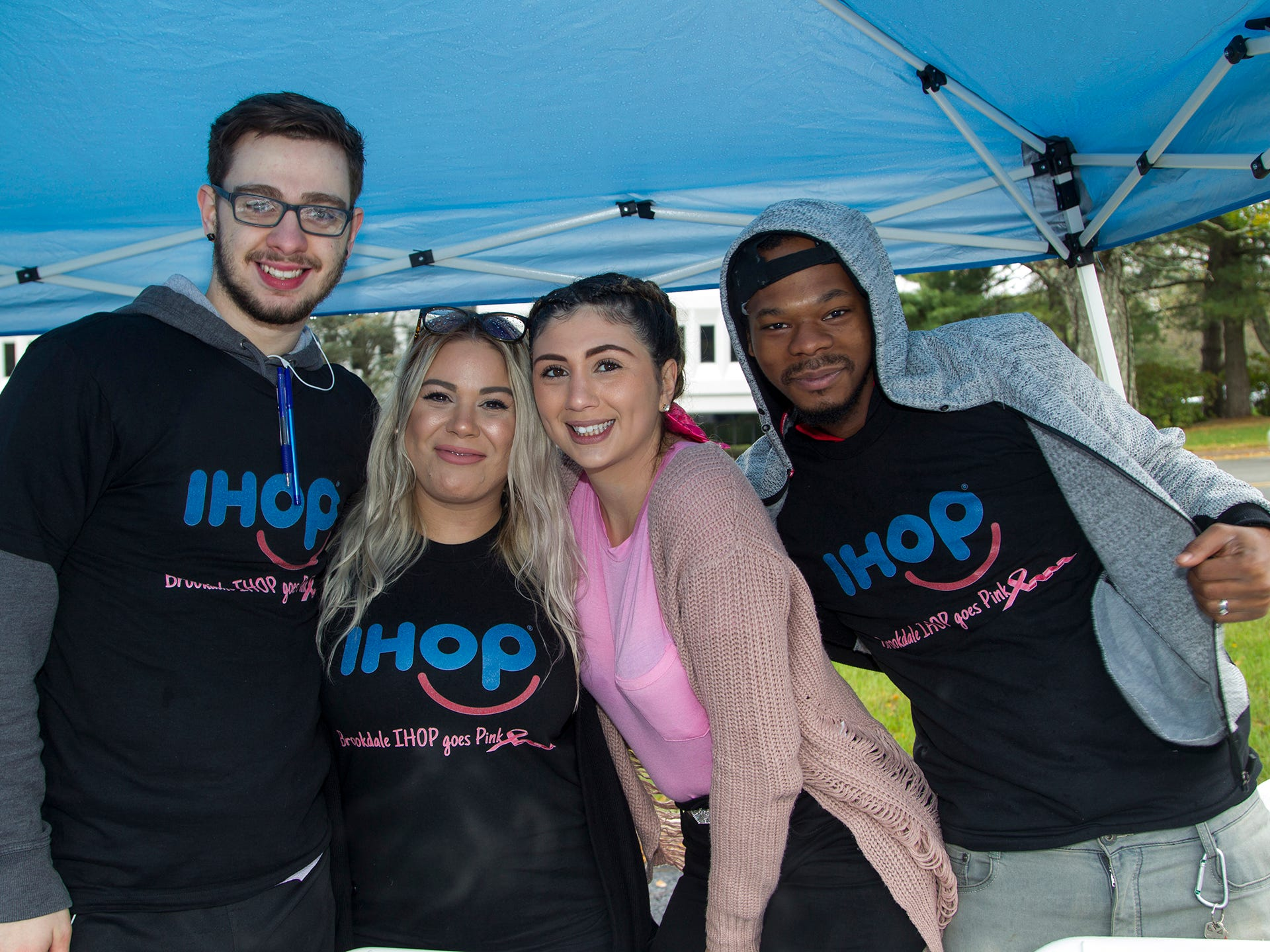 Matt Keller, Cheila Carabello, Brianna Siegel, Terelo Cooper. Valley National Bank held its 10th annual Breast Cancer Walk in Wayne. 10/13/2018