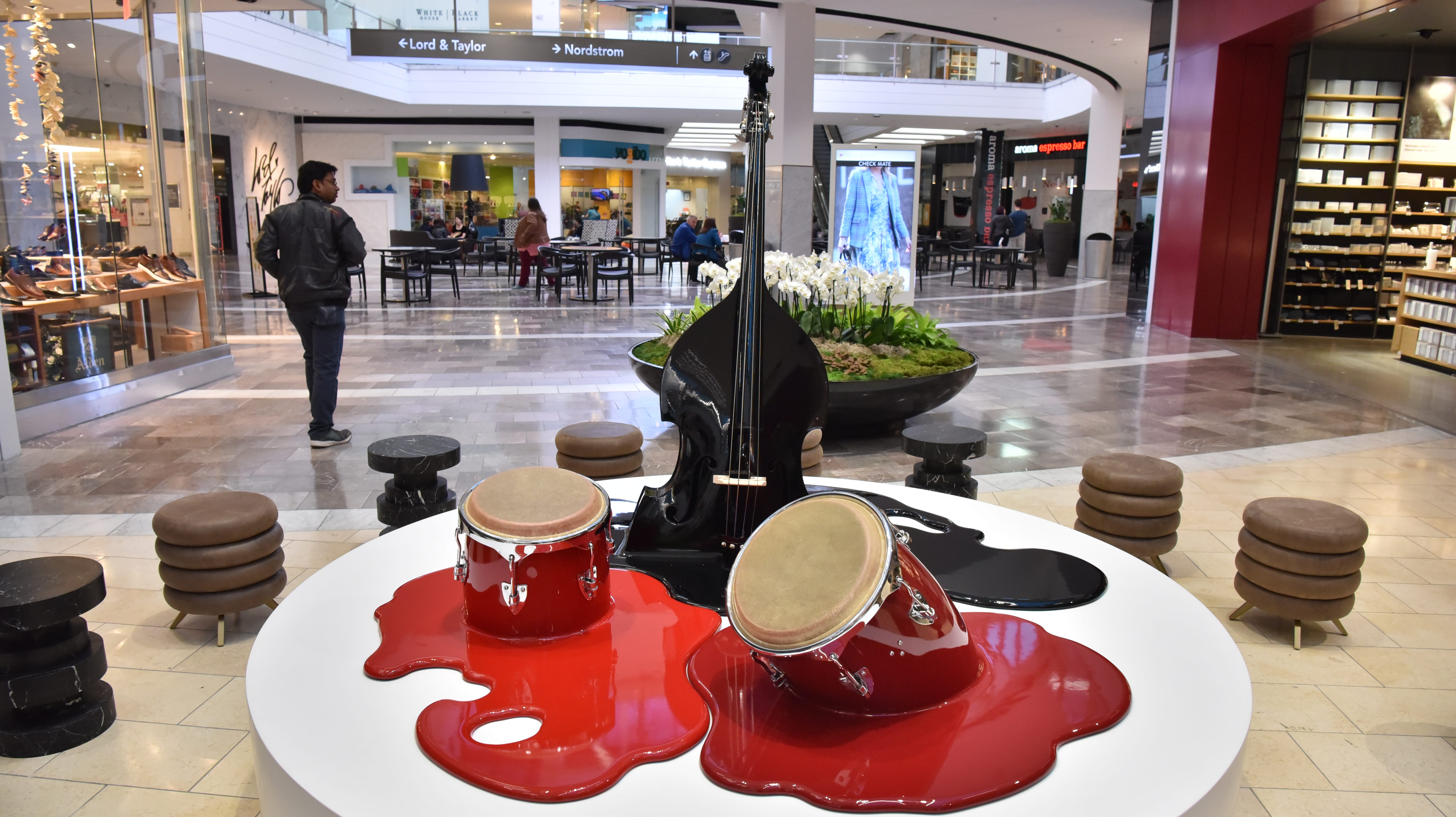 Puzzled by giant nail, melting drums at Garden State Plaza? Here's what's going on