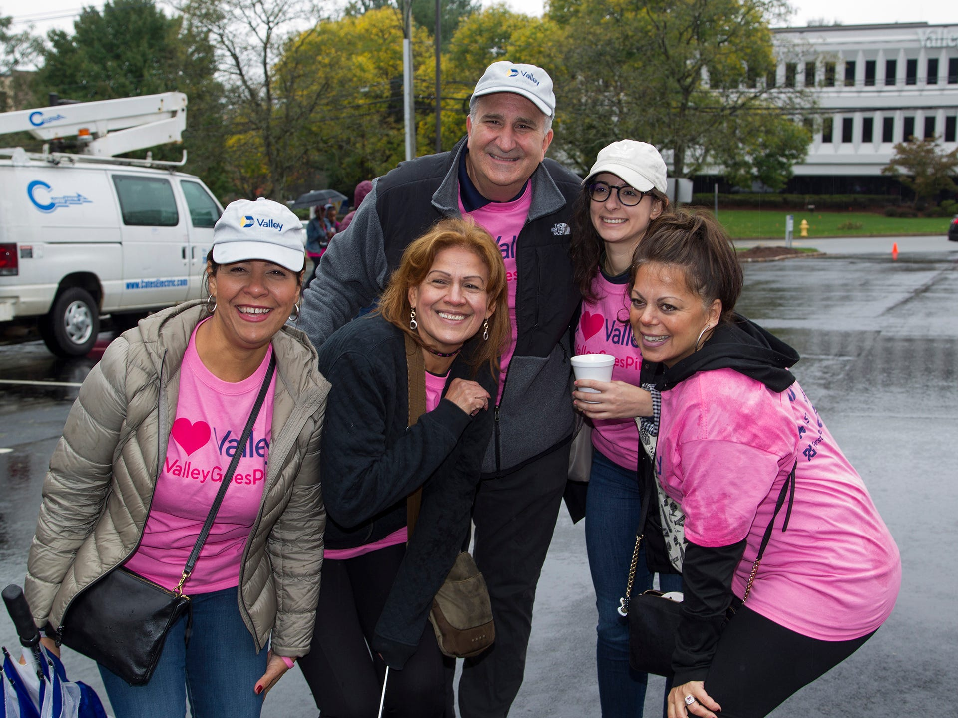 Linda, Helen, Bob, Pam, Eileen. Valley National Bank held its 10th annual Breast Cancer Walk in Wayne. 10/13/2018