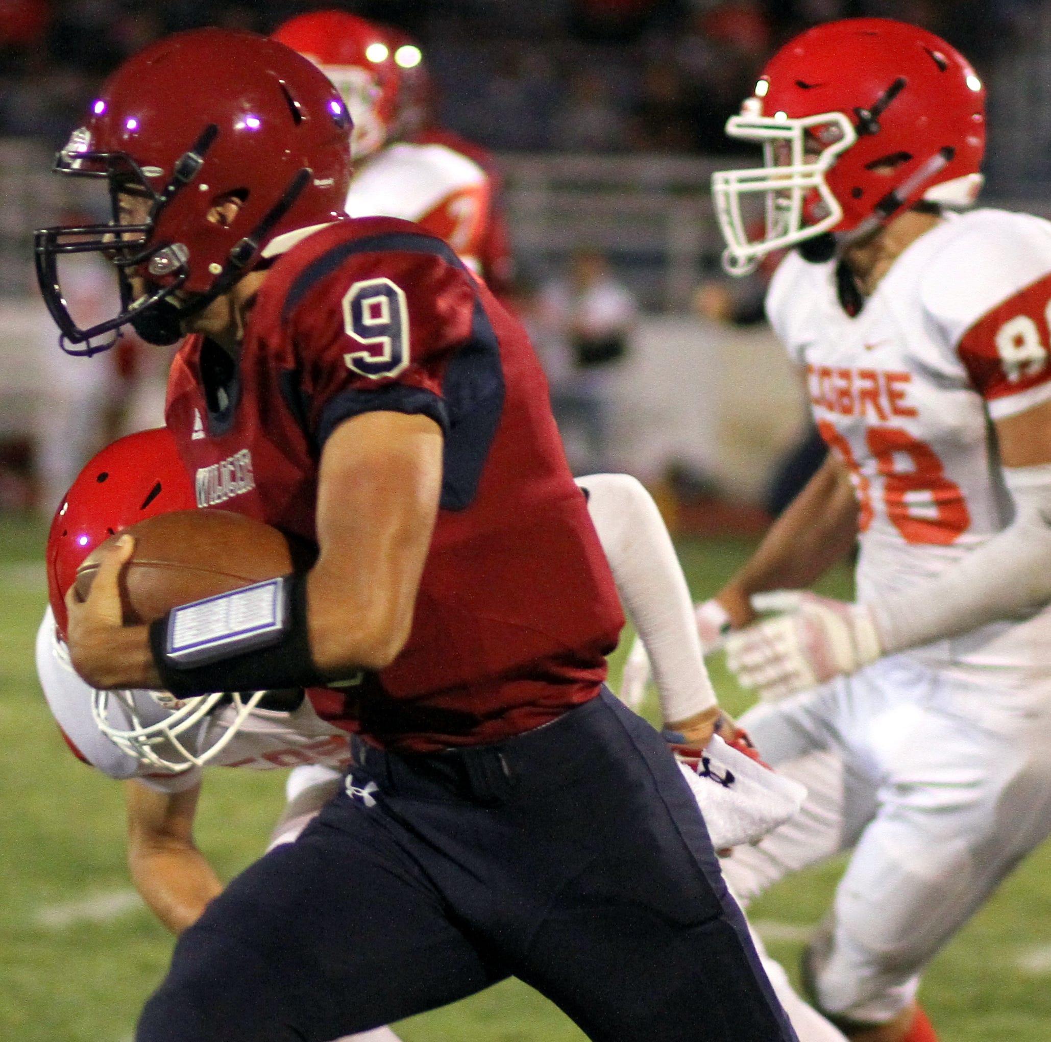 Senior Wildcat quarterback Daniel Garcia (9) will be on the run come Friday night against the Santa Teresa desert Warriors.