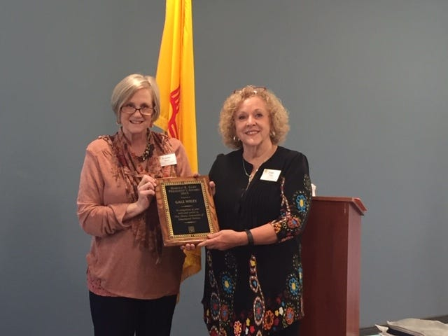 The Las Cruces Association of Educational Retirees president Gale Wiley was awarded the Harold R. Goff President's award at the New Mexico Association of Educational Retirees'  76th State Convention in Gallup, New Mexico.