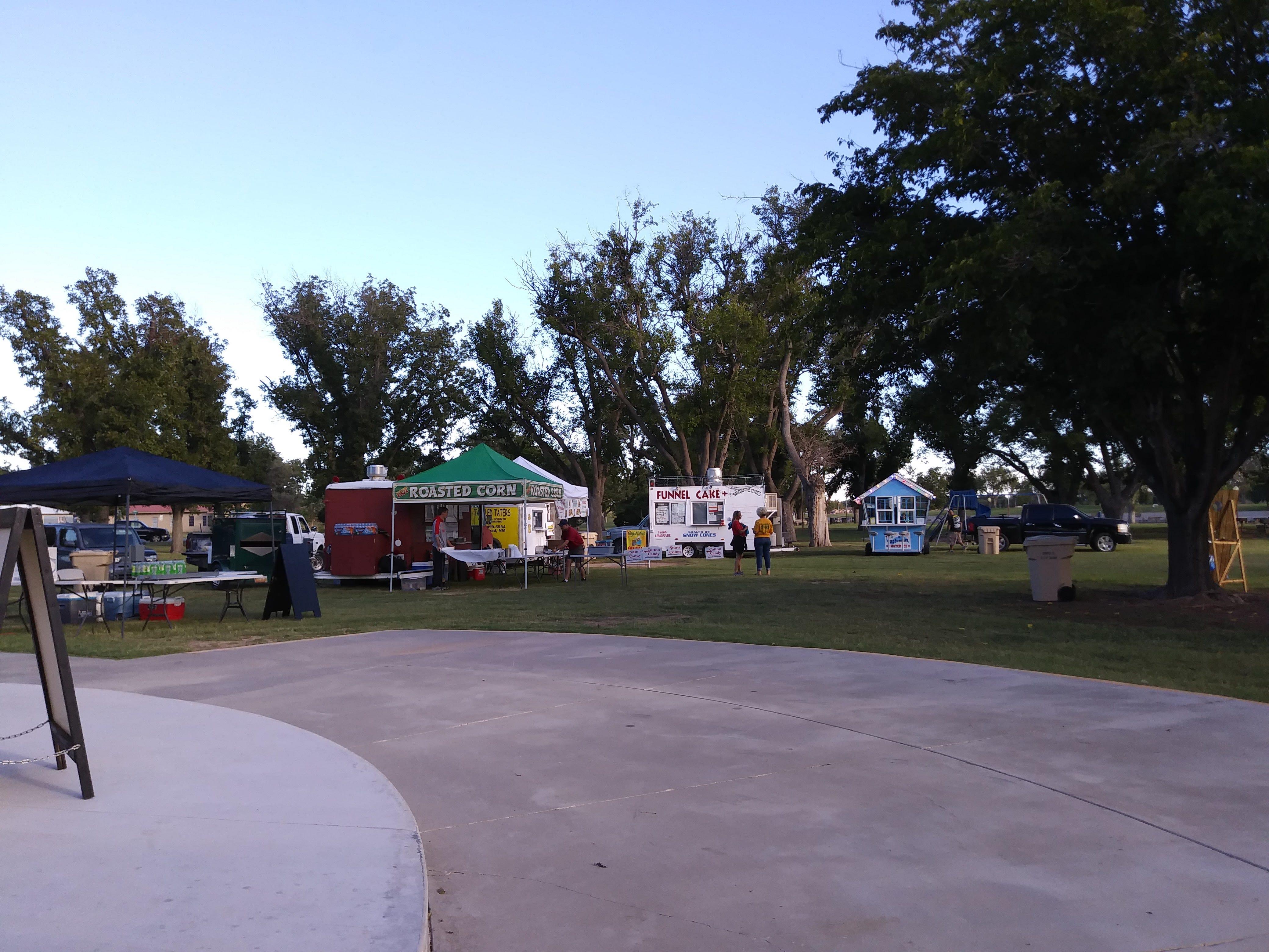 Food vendors gather for a past Fallapalooza event.