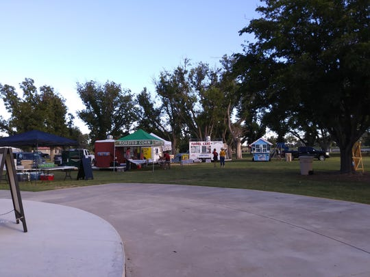 Food vendors gather for a past Fallapalooza event.