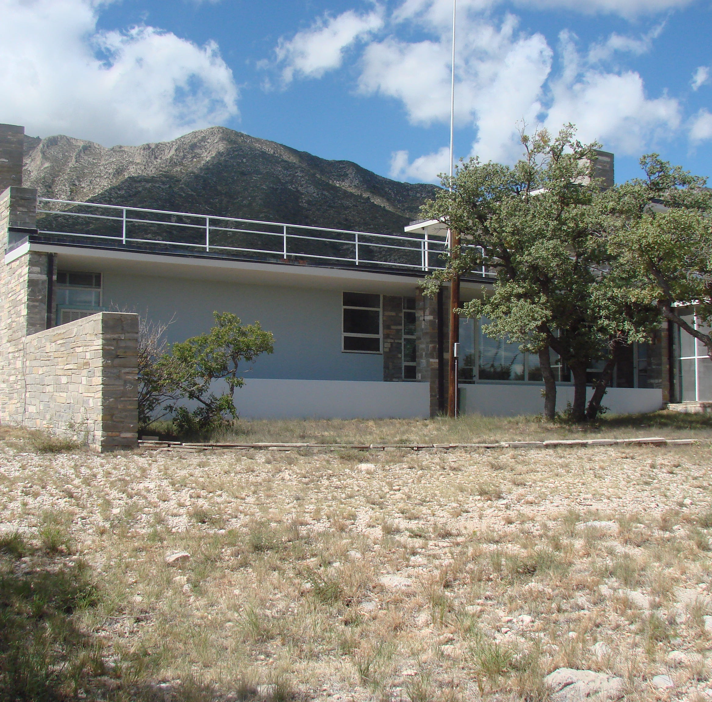 An historic house owned by the late Wallace Pratt, known as Ship on the Desert, stands in Guadalupe Mountains National Park.