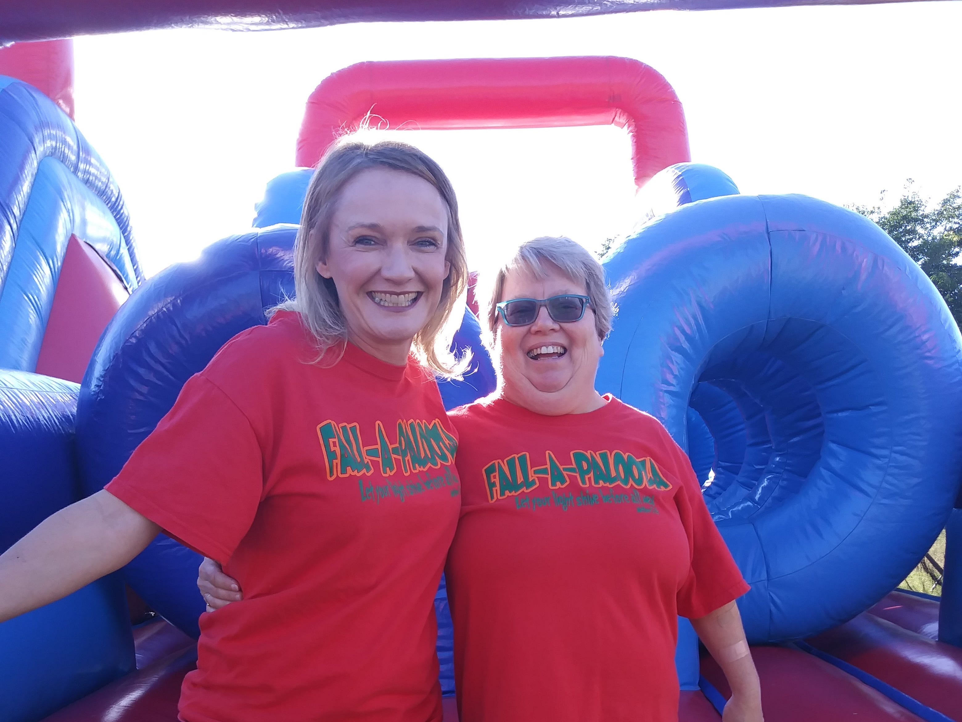 (From left)-Jeni Dugan and Linda Horton participate in a past Fallapalooza.  Saturday marks the tenth year of the family friendly event.