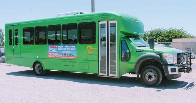 A Z-Trans bus in Alamogordo