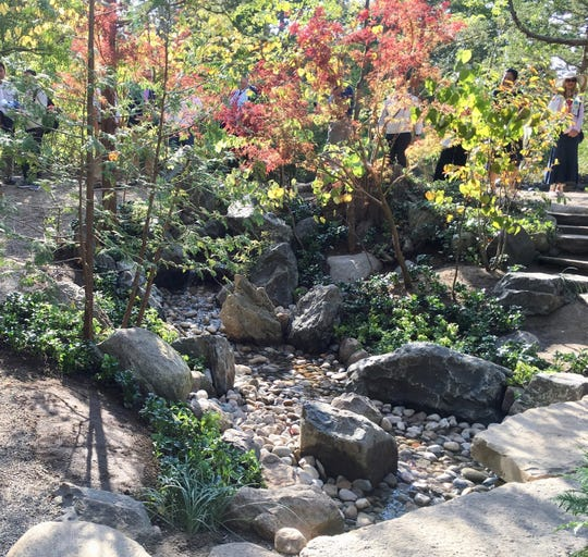 The Lily Pond Cascade is in a beautiful, serene area of the Japanese Garden at Cranbrook. Six gardeners came from Japan and worked six days to rejuvenate the area. The garden was created in 1915 and is one of the oldest Japanese Gardens in the United States.
