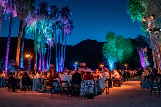 Guests enjoying the spectacular canyon setting, fantastic food, and great entertainment.