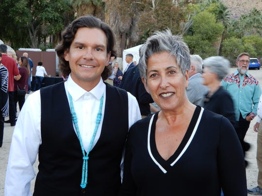 (left to right) Anthony Purnel,Tribal Council Member,and Ellen Goodman, Executive Director of the Palm Springs Unified School District Foundation.