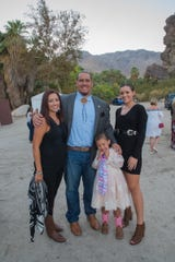 (left to right) Esha Grubbe, Jeff L. Grubbe, Chairman of the Agua Caliente Band of Cahuilla Indians, with daughters Wahleah and Jayla.