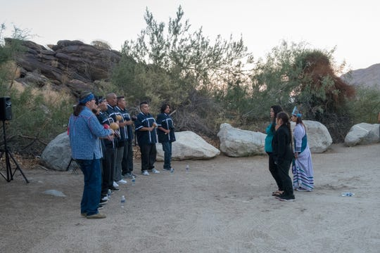 Traditional Bird Singing and Dancing as part of the festivities at Dinner In The Canyons.