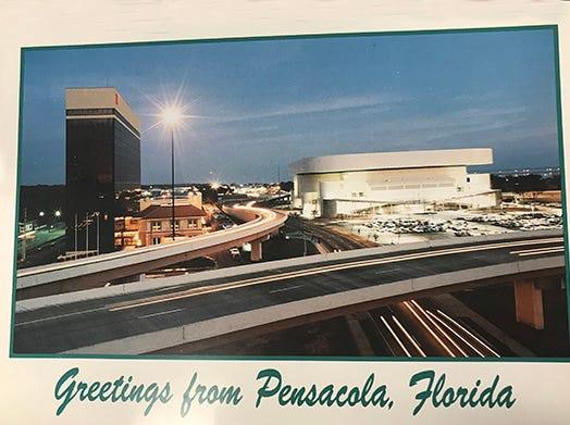 Pensacola Civic Center next to Pensacola Hilton.