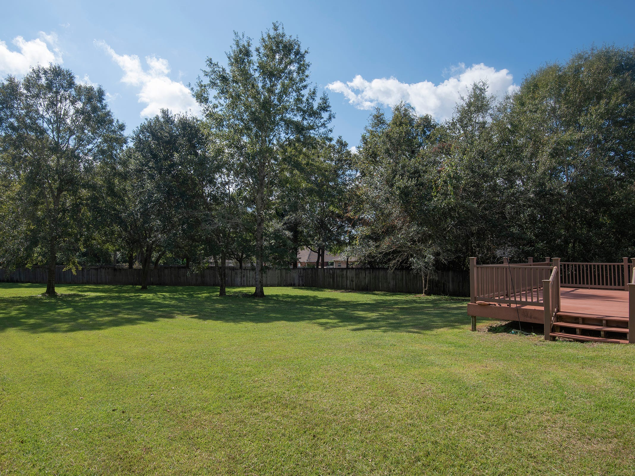 2363 Queens Ferry LaneThe backyard is open and private.