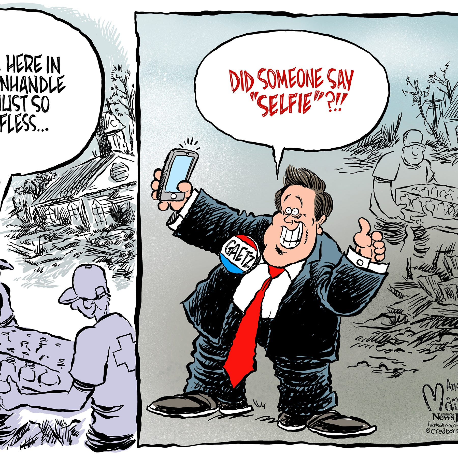 Marlette: When disaster strikes, seek food, water and... selfies?