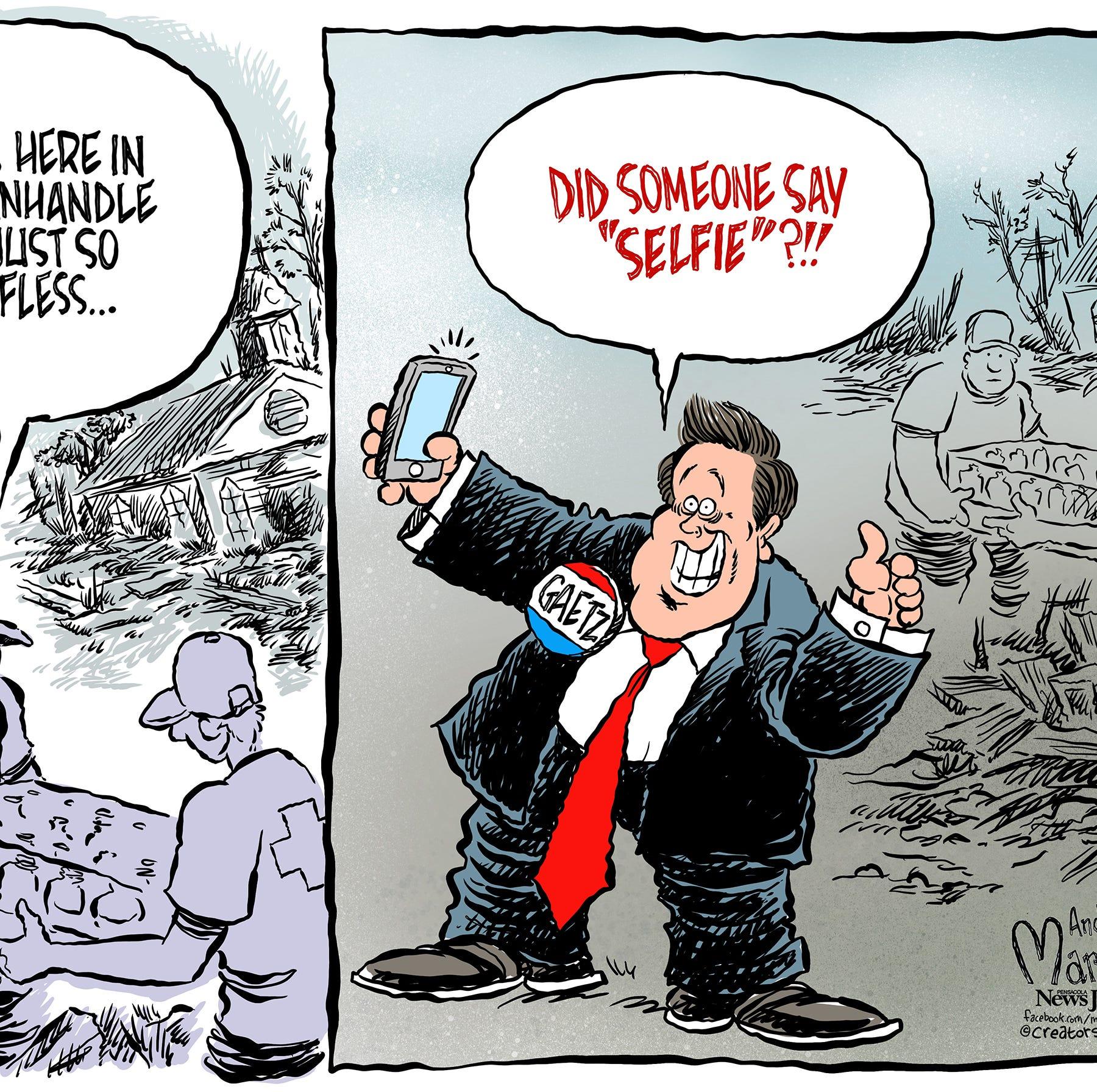 Marlette: When disaster strikes, seek food, water and... selfies?