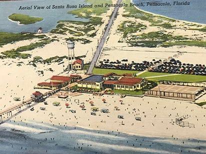 Aerial view of Santa Rosa Island and Pensacola.