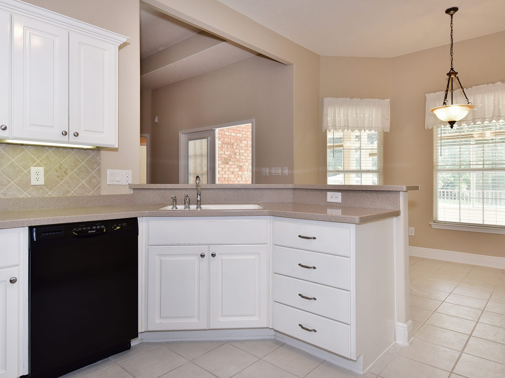 2363 Queens Ferry LaneThe open kitchen ajoins the casual dining space.