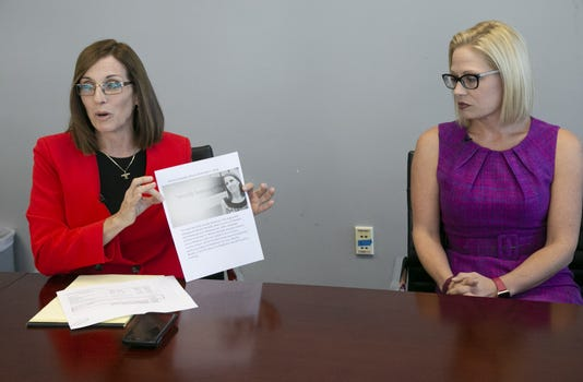 Republican Martha Mcsally And Democrat Kyrsten Sinema