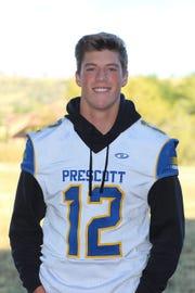 Prescott quarterback is this weeks Boys Athlete of the Week.