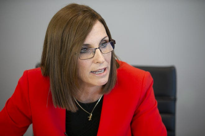 Rep. Martha McSally speaks with The Arizona Republic's editorial board and reporters on Oct. 17, 2018.