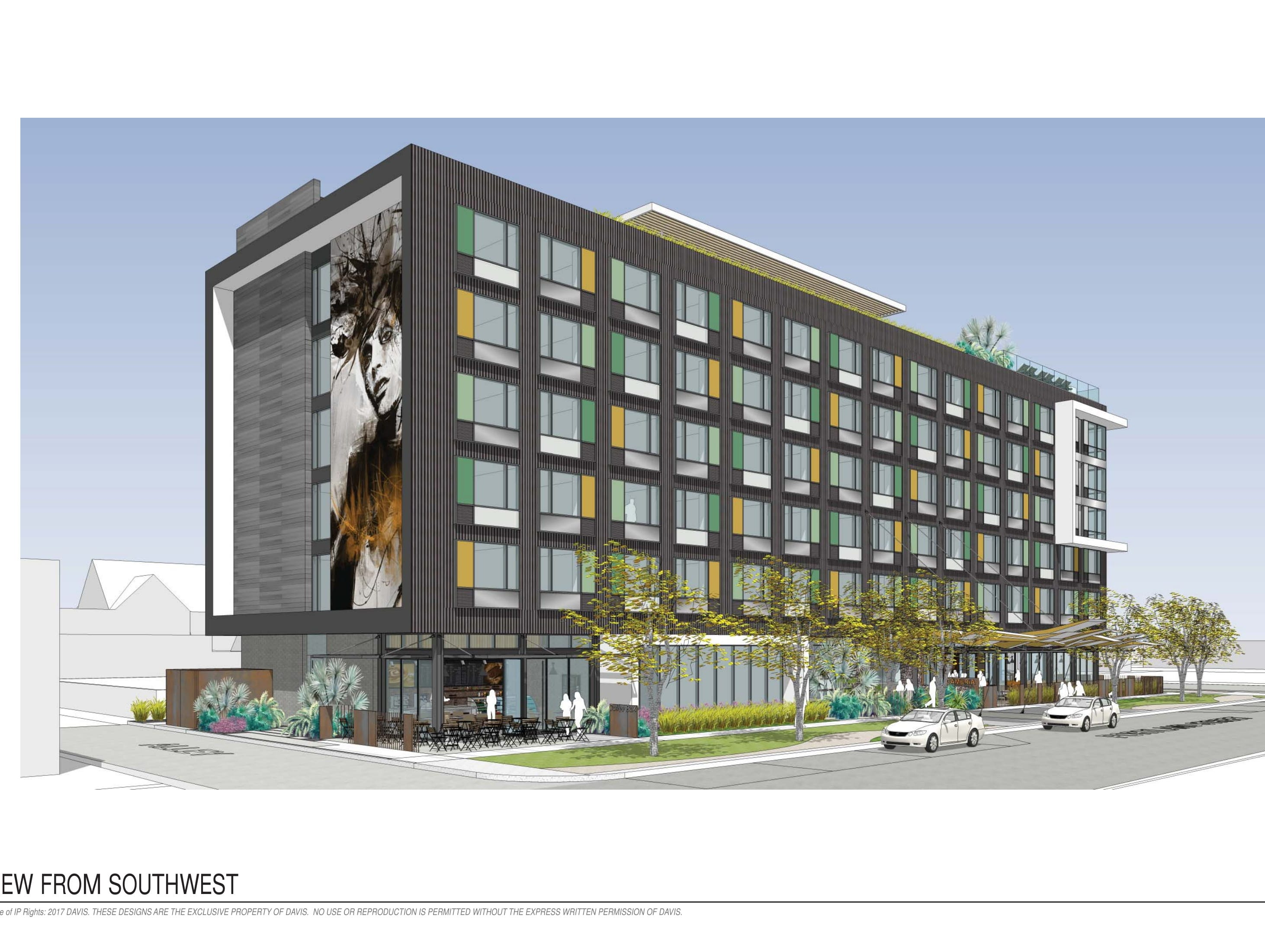 Renderings of seven-story Cambria hotel going up in downtown Phoenix's Roosevelt Row.