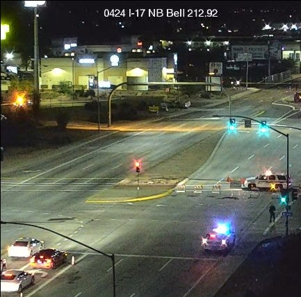 3 dead, 2 injured in rollover crash on Bell Road near I-17 in Phoenix