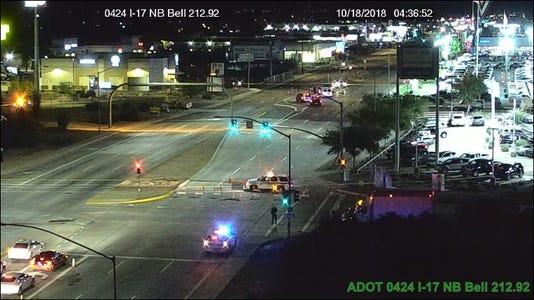 Crash on West Bell Road